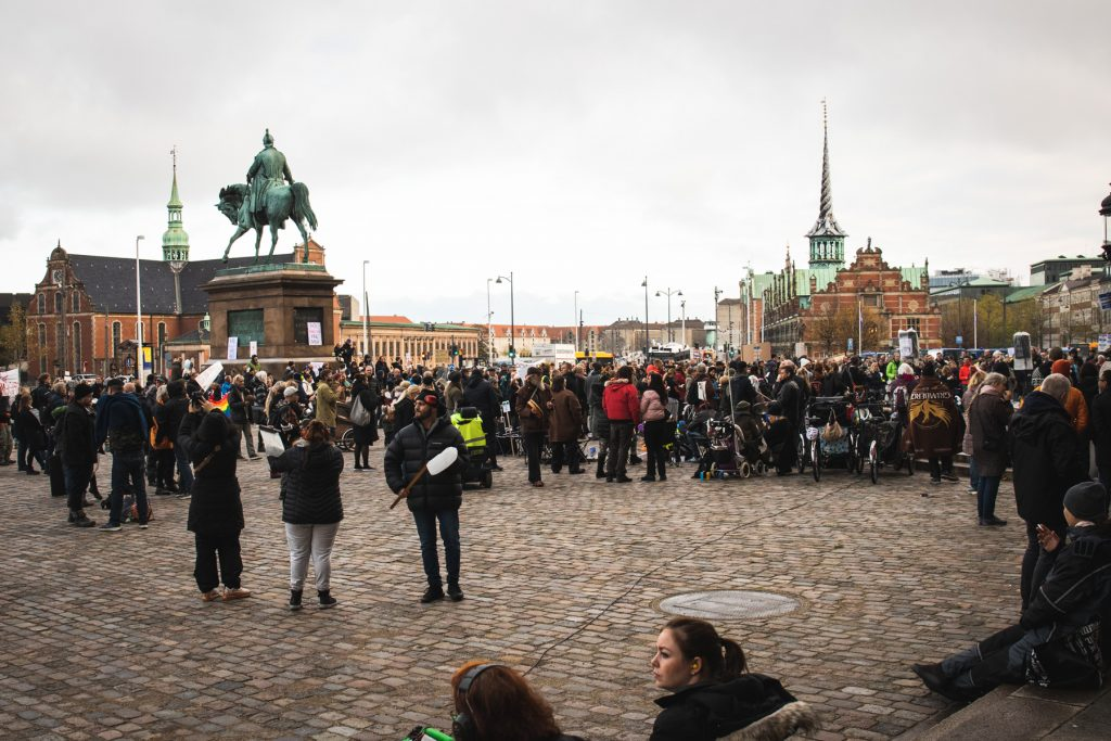 Demonstration København 13 november 2020 Christiansborg