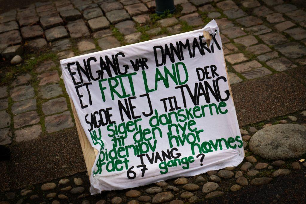 Demonstration Aalborg C.W. Obels Plads 5. December 2020